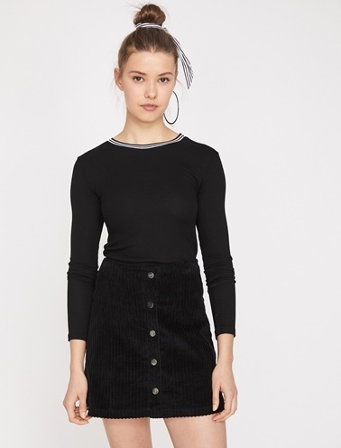 Koton Tişört Siyah